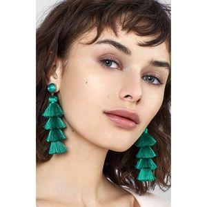 Baublebar Gabriela Tassel Fringe Earring in Green